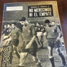 Coleccionismo deportivo: REVISTA DEPORTIVA DICEN N.521 1963, CESE DE KUBALA, GUILLOT, VILLALONGA, GOYVAERTS, ZUBIETA,.... Lote 48600408