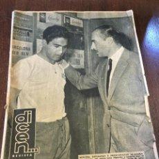 Coleccionismo deportivo: REVISTA DEPORTIVA DICEN N.463 1961, KUBALA, FCBARCELONA-NIZA, RIERA Y CASTAÑOS, LLAUDET, RIFÉ. Lote 48600632