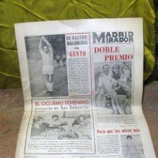 Coleccionismo deportivo: PERIODICO DEPORTIVO MADRID MIRADOR - 1965. Lote 48618267