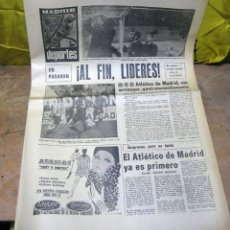 Coleccionismo deportivo: PERIODICO DEPORTIVO MADRID DEPORTES - 1969. Lote 48618367