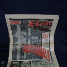 Coleccionismo deportivo: EXTRA PUEBLO REAL MADRID 6 DE NOVIEMBRE DE 1975 5-1INCREIBLE 46X32,5CMS. Lote 48885549