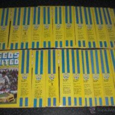Coleccionismo deportivo: COLECCION COMPLETA PROGRAMAS LEEDS UNITED (1978/79). Lote 48979829