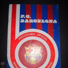 Coleccionismo deportivo: FC BARCELONA - PROGRAMA OFICIAL - ATHLETIC DE BILBAO - F.C. BARCELONA - AÑO 1976 -VER FOTOS(CD-1490). Lote 48982186