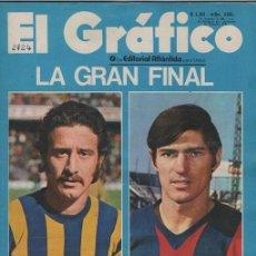 Coleccionismo deportivo: EL GRAFICO # 2724 AÑO 1971 TAPA POY & FISCHER FINAL SAN LORENZO VS ROSARIO LOCCHE PAMBELE 74 PAG. Lote 49118560