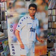 Coleccionismo deportivo: TOP FUTBOL Nº 2 - POSTER GIGANTE FERNANDO HIERRO - 1996-1997 - SIN USAR, DE KIOSKO. Lote 49145605