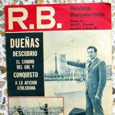 Coleccionismo deportivo: REVISTA BARCELONISTA Nº310 MARZO 1971.FC BARCELONA FUTBOL VINTAGE. PARTIDO LIGA SEVILLA FC DUEÑAS. Lote 49186683