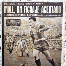 Coleccionismo deportivo: PERIODICO OLIMPIA SEMANARIO 1954 FUTBOL VINTAGE. FC BARCELONA DEPORTIVO LA CORUÑA.MOLL.FORMULA UNO. Lote 49219959
