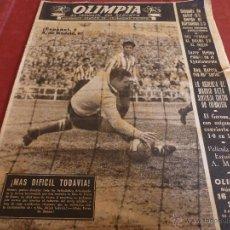Coleccionismo deportivo: OLIMPIA Nº:11(25-11-52) BARÇA 6 RACING SANTANDER 0,ESPAÑOL 2 AT.MADRID 0-CLUB AT.SAN GERVASIO-FOTOS. Lote 49407803