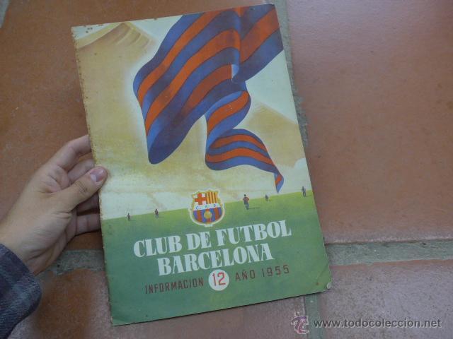 ANTIGUA REVISTA CLUB DE FUTBOL BARCELONA, 1955, BARÇA (Coleccionismo Deportivo - Revistas y Periódicos - otros Fútbol)