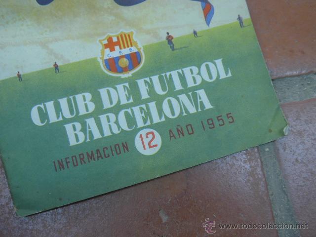 Coleccionismo deportivo: Antigua revista club de futbol barcelona, 1955, barça - Foto 2 - 49719358