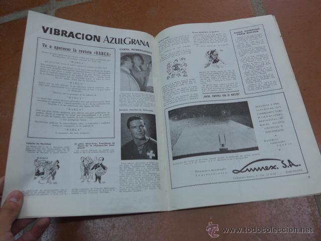 Coleccionismo deportivo: Antigua revista club de futbol barcelona, 1955, barça - Foto 3 - 49719358