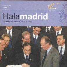 Coleccionismo deportivo: HALA MADRID- LA REVISTA EXCLUSIVA DE LOS MADRIDISTAS FEBRERO 2002 81PAG. LE481. Lote 49748019