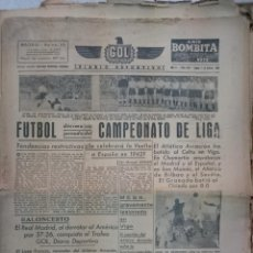 Coleccionismo deportivo: LOTE 200 PERIODICOS, DIARIO DEPORTIVO GOL, FUTBOL, ANTIGUOS, AÑOS 40 Y POSTERIORES,. Lote 49756640