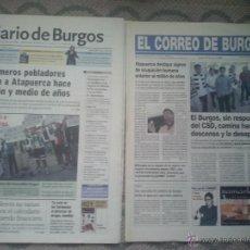 Coleccionismo deportivo: DIARIO DE BURGOS+CORREO DE BURGOS: BURGOS CF DESCENSO ADMINISTRATIVO 27.07.2002 POSTER ROSA LOPEZ. Lote 49888650
