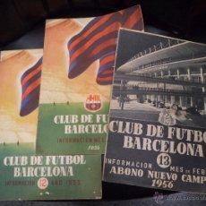 Coleccionismo deportivo: LOTE DE TRES REVISTAS FUTBOL CLUB BARCELONA. Lote 50040220