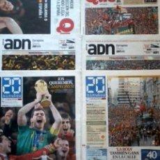 Coleccionismo deportivo: PERIODICOS MUNDIAL SUDAFRICA 2010 ESPAÑA CAMPEON FIFA WORLD CUP FOOTBALL NEWPAPERS SPAIN CHAMPION. Lote 143361086