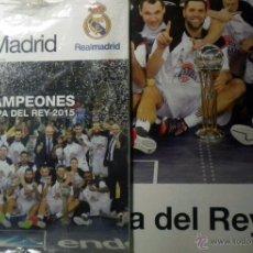 Coleccionismo deportivo: REVISTA HALA MADRID REAL CAMPEON COPA DEL REY BALONCESTO BASKET 2015 POSTER. Lote 50044783