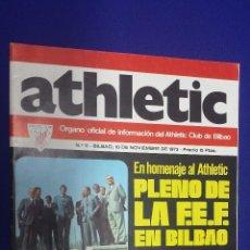 Coleccionismo deportivo: REVISTA ATHLETIC Nº 11 - ÓRGANO OFICIAL DE INFORMACIÓN DEL ATHLETIC CLUB DE BILBAO - NOV 1973. Lote 50298484