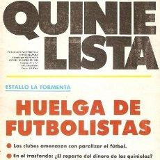Coleccionismo deportivo: QUINIELISTA. Nº 56. JORNADAS 3 Y 4 DE LA LIGA 1984 - 1985. 84-85. VER FOTO.. Lote 50174978