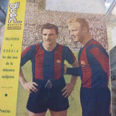 Coleccionismo deportivo: DICEN Nº:160 (27-10-55) BARÇA,KUBALA Y VILLAVERDE, F.C.BARCELONA. Lote 50307796