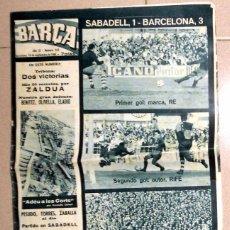 Coleccionismo deportivo: REVISTA BARÇA FC BARCELONA ANTIGUA 1965 FUTBOL VINTAGE FOOTBALL. SABADELL LIGA.. Lote 50343875