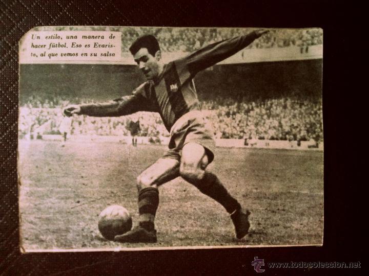 Coleccionismo deportivo: Número 44 colección Idolos del deporte EVARISTO - Foto 2 - 50465808