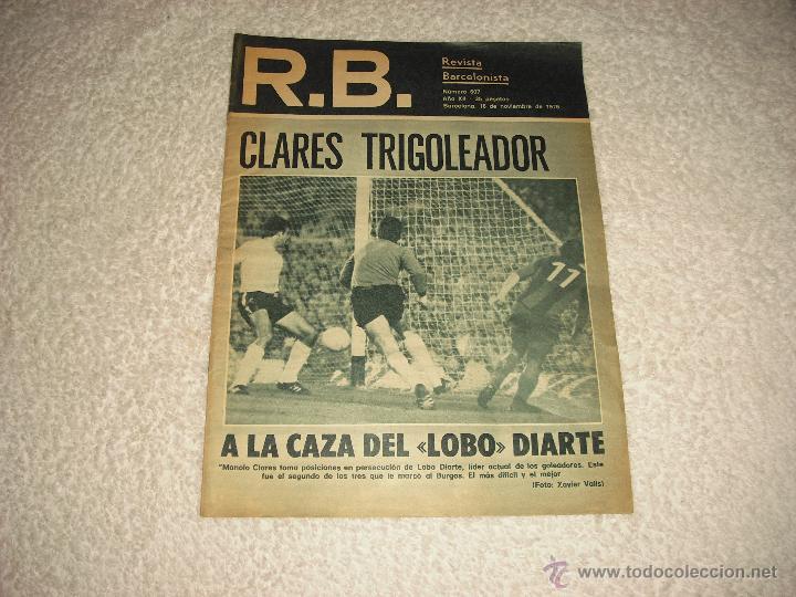R.B., REVISTA BARCELONISTA , NUMERO 607 . (Coleccionismo Deportivo - Revistas y Periódicos - otros Fútbol)