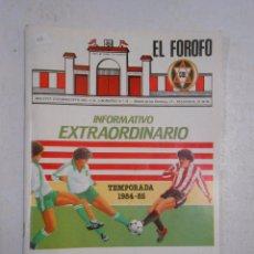 Coleccionismo deportivo: REVISTA EL FOROFO. BOLETIN CLUB DEPORTIVO LOGROÑES TEMPORADA 1984-85. JUNIO DE 1985. TDK122. Lote 50568566