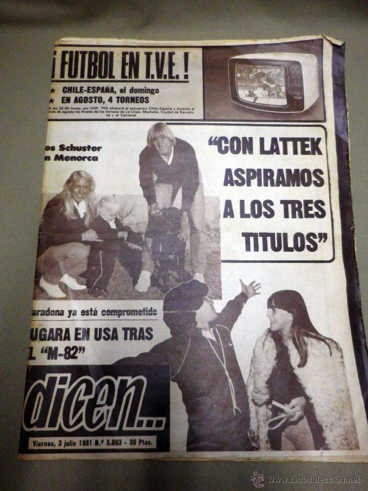REVISTA DICEN, JULIO 1981, Nº 5093, FC BARCELONA, BARÇA, MARADONA, YA ESTA COMPROMETIDO, USA (Coleccionismo Deportivo - Revistas y Periódicos - otros Fútbol)