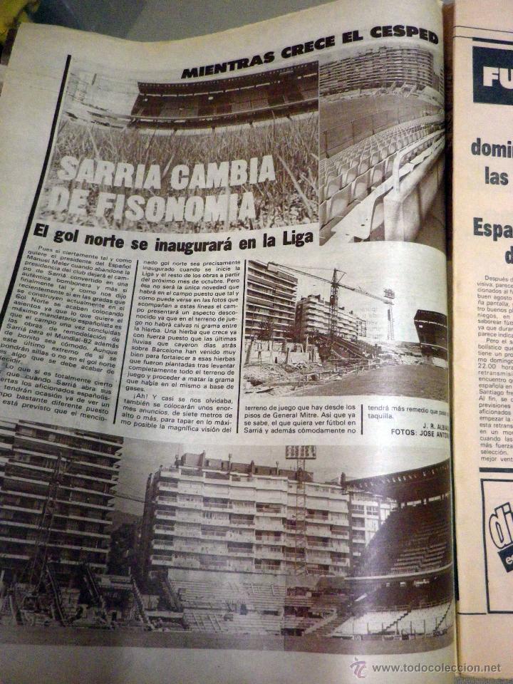 Coleccionismo deportivo: REVISTA DICEN, JULIO 1981, Nº 5093, FC BARCELONA, BARÇA, MARADONA, YA ESTA COMPROMETIDO, USA - Foto 3 - 50655832