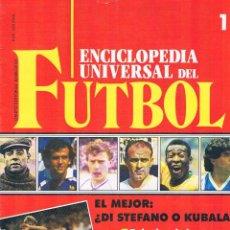 Coleccionismo deportivo: ENCICLOPEDIA UNIVERSAL DEL FUTBOL FASCÍCULO 1 CONTRAPORTADA PÓSTER DEL ATLÉTICO DE MADRID 1991. Lote 50701401