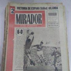 Coleccionismo deportivo: MIRADOR DE LOS DEPORTES. AÑO I. Nº 14. 2 JUNIO 1952. VICTORIA ESPAÑA SOBRE IRLANDA. LEER. Lote 50929428
