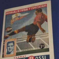Coleccionismo deportivo: PROGRAMA DE FUTBOL Y ESCPECTÁCULOS. Nº 37. ATLETICO DE MADRID- ESPAÑOL. BEN BAREK, ESCUDERO.. Lote 51124622
