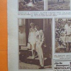 Coleccionismo deportivo: RECORTE 1930 - RICARDO ZAMORA EN MADRID. Lote 51128089