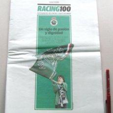 Coleccionismo deportivo: REVISTA PERIDODICO EL DIARIO MONTAÑES RACING CLUB SANTANDER 100 AÑOS RACING100. Lote 51153623