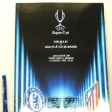 Coleccionismo deportivo: PROGRAMA LIBRO ATLETICO MADRID OFICIAL UEFA SUPER CUP EUROPA VS CHELSEA FC 2012. Lote 51195775