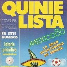 Coleccionismo deportivo: QUINIELISTA. Nº 93. LIGA 1985 - 1986. 85-86. CON PÓSTER DE LA SELECCIÓN ESPAÑOLA. VER FOTO.. Lote 51424045