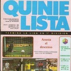 Coleccionismo deportivo: QUINIELISTA. Nº 90. LIGA 1985 - 1986. 85 - 86. CON PÓSTER DEL RACING DE SANTANDER. VER FOTO. Lote 51424488