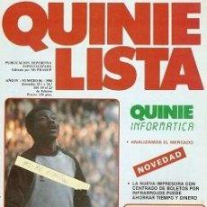 Coleccionismo deportivo: QUINIELISTA. Nº 86. LIGA 1985 - 1986. 85 - 86. CON PÓSTER DEL R. C. D. ESPAÑOL / ESPANYOL. VER FOTO. Lote 51424772
