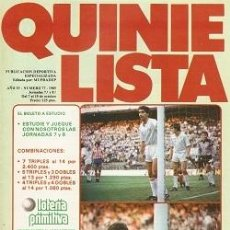 Coleccionismo deportivo: QUINIELISTA. Nº 77. LIGA 1985 - 1986. 85 - 86. CON PÓSTER DEL SEVILLA C.F. VER FOTO. Lote 51424975