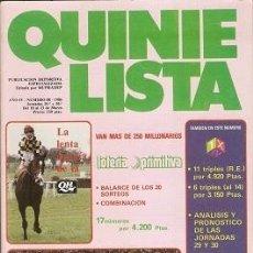 Coleccionismo deportivo: QUINIELISTA. Nº 88. LIGA 1985 - 1986. 85 - 86. CON PÓSTER DEL REAL BETIS BALOMPIÉ. VER FOTO.. Lote 51425347