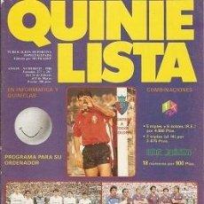 Coleccionismo deportivo: QUINIELISTA. Nº 87. LIGA 1985 - 1986. 85 - 86. CON PÓSTER DEL CLUB ATLÉTICO OSASUNA. VER FOTO.. Lote 51425444