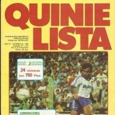 Coleccionismo deportivo: QUINIELISTA. Nº 82. LIGA 1985 - 1986. 85 - 86. CON PÓSTER DEL REAL ZARAGOZA. VER FOTO.. Lote 51425633