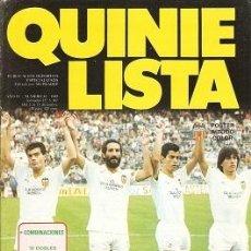 Coleccionismo deportivo: QUINIELISTA. Nº 81. LIGA 1985 - 1986. 85 - 86. CON PÓSTER DEL VALENCIA C. F. VER FOTO.. Lote 51425812