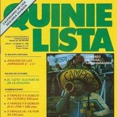 Coleccionismo deportivo: QUINIELISTA. Nº 75. LIGA 1985 - 1986. 85 - 86. CON PÓSTER CALENDARIO DE LIGA 2ª DIVISIÓN. VER FOTO.. Lote 51425937
