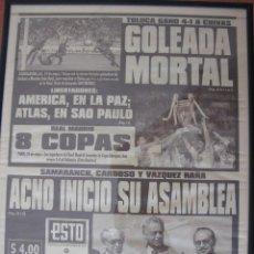 Coleccionismo deportivo: ESTO DE MÉXICO D.F. PERIODICO DE LA ORGANIZACIÓN EDITORIAL MEXICANA DEL 25.5.2000 REAL MADRID. LA 8ª. Lote 51443041