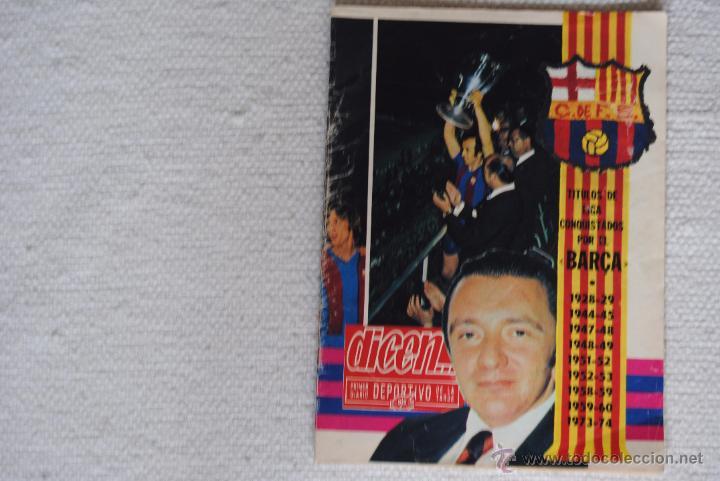 DIARIO DICEN CAMPEON DE COPA 1974 (Coleccionismo Deportivo - Revistas y Periódicos - otros Fútbol)