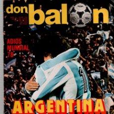 Coleccionismo deportivo: DON BALON ARGENTINA CAMPEON. Lote 51533280