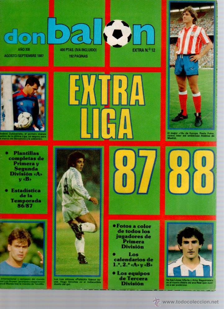 DON BALON EXTRA LIGA 87/88 (Coleccionismo Deportivo - Revistas y Periódicos - otros Fútbol)