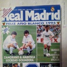 Coleccionismo deportivo: REVISTA REAL MADRID NÚMERO 64 ENERO 1995. Lote 51613437